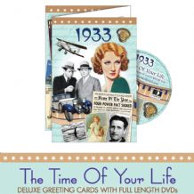 1930 to 1939  The time of your life DVD Greeting Card.